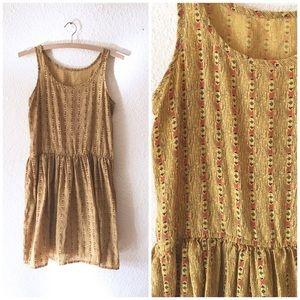 Vintage 60s Mustard Casual Day Sun Dress